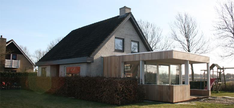 Uitbreiding veranda, serre woning Friesland
