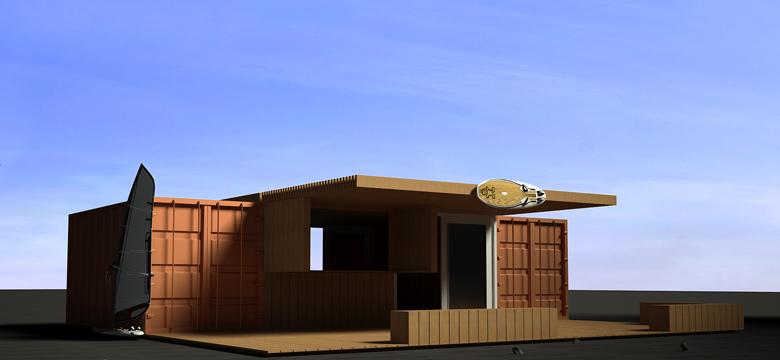 Architectuur Friesland, bouwen met zeecontainers