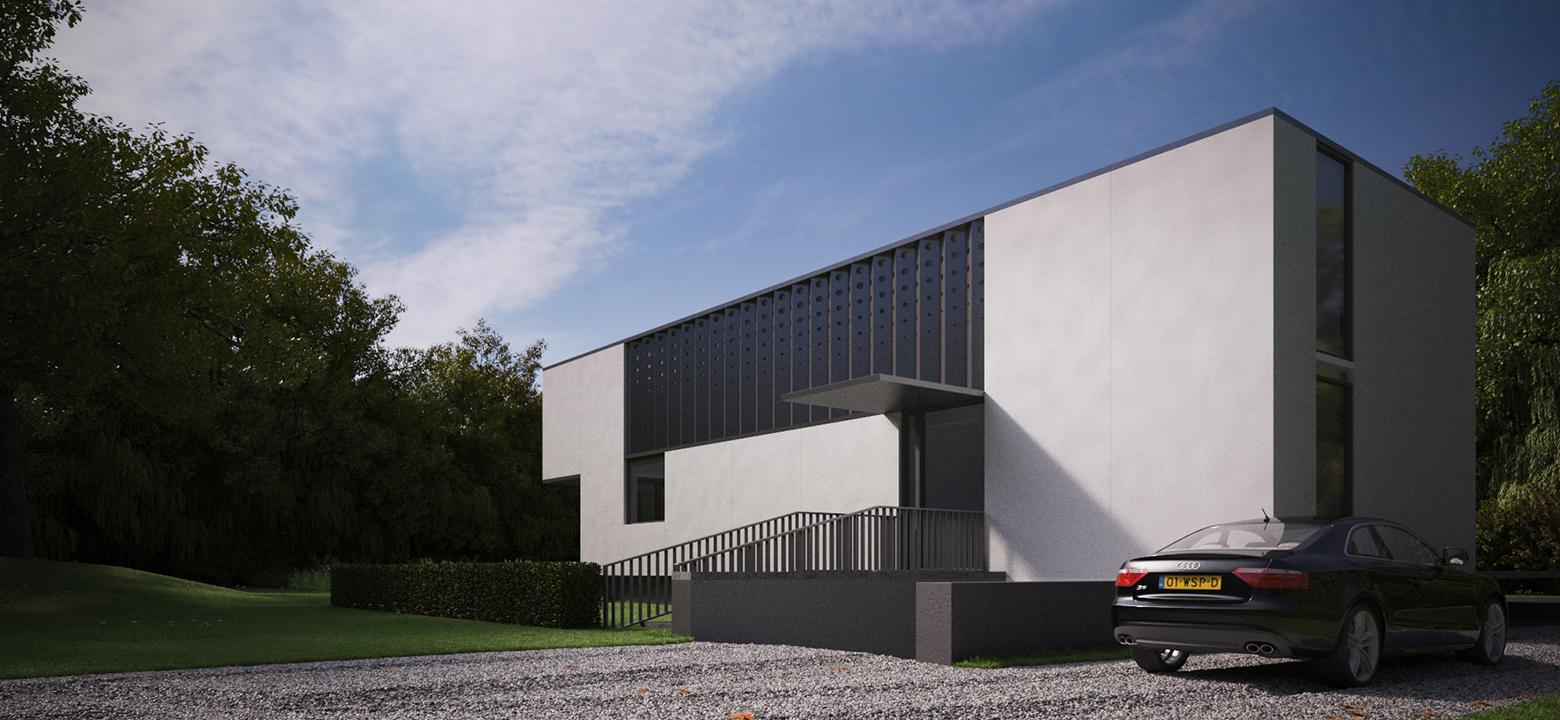 Villa Architectuur moderne minimalistische kubistische villa Friesland