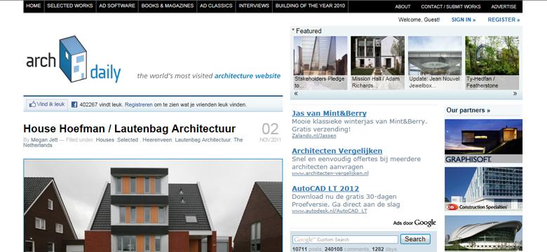 Archdaily, publicatie architectuur Friesland