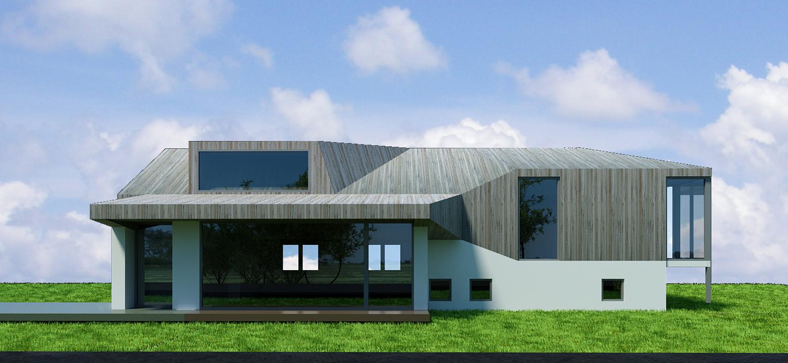 Architectuur Friesland, verbouwing en uitbreiding splitlevel woning