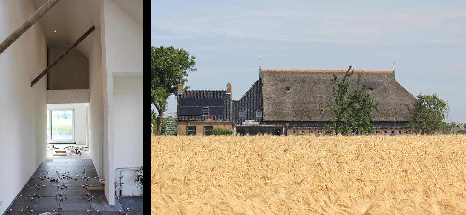 Renovatie en verbouw woonboerderij Friesland, architectuur Friesland