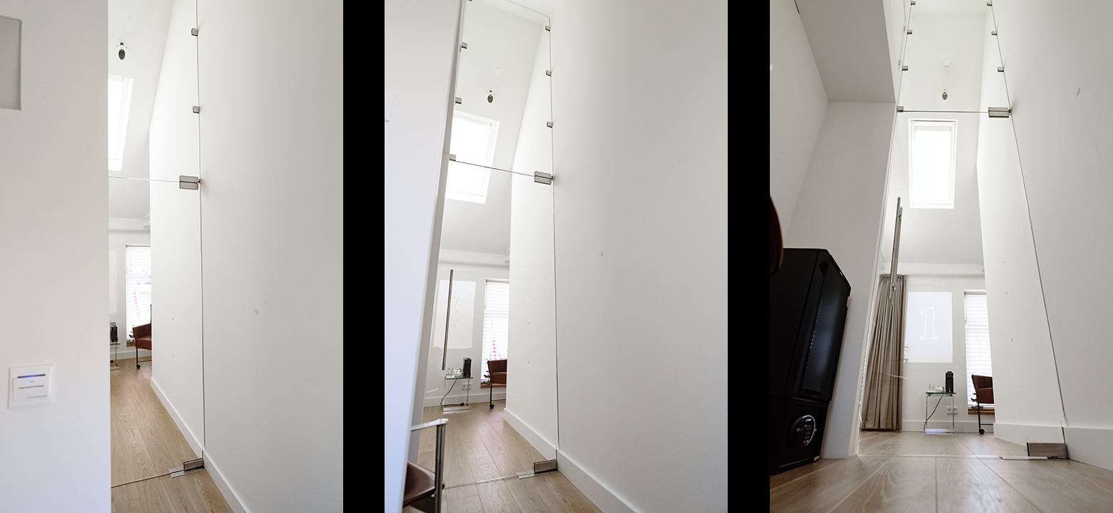Glass door, interior architecture
