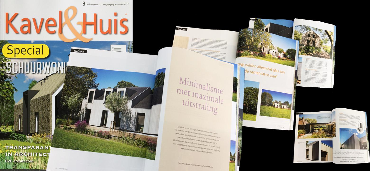 Publicatie tijdschrift kavel en huis lautenbag architectuur for Kavel en huis droomhuis