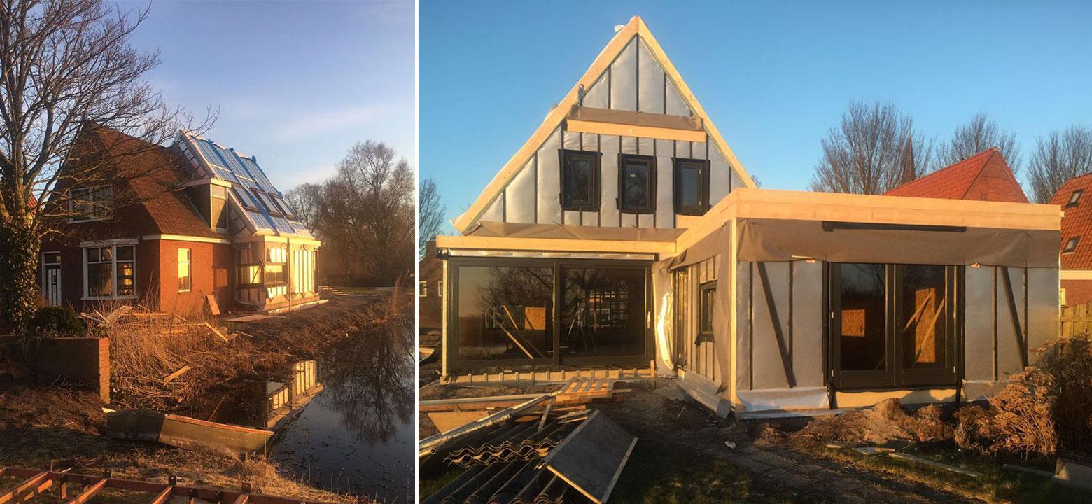Architect Friesland uitbreiding woning