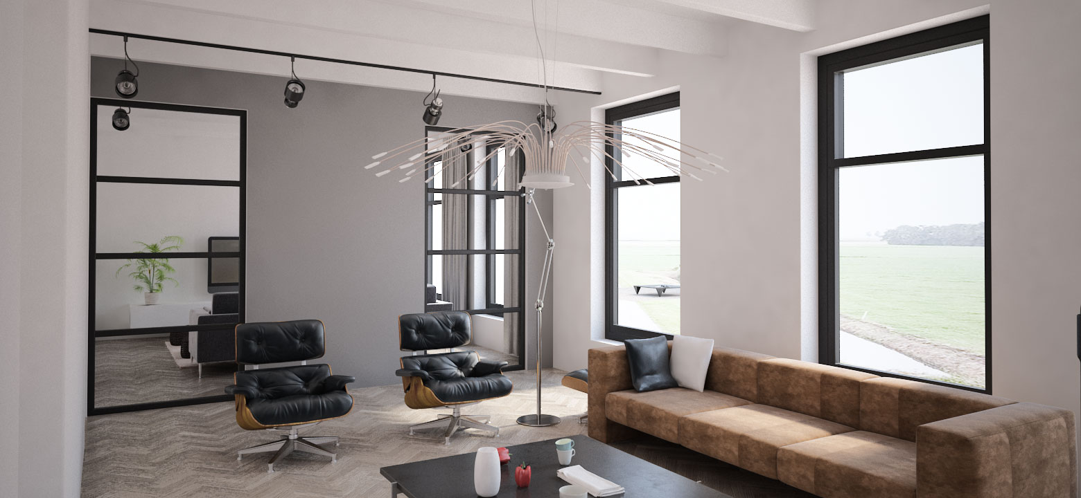 Lounge woonboerderij Friesland, Architect Friesland