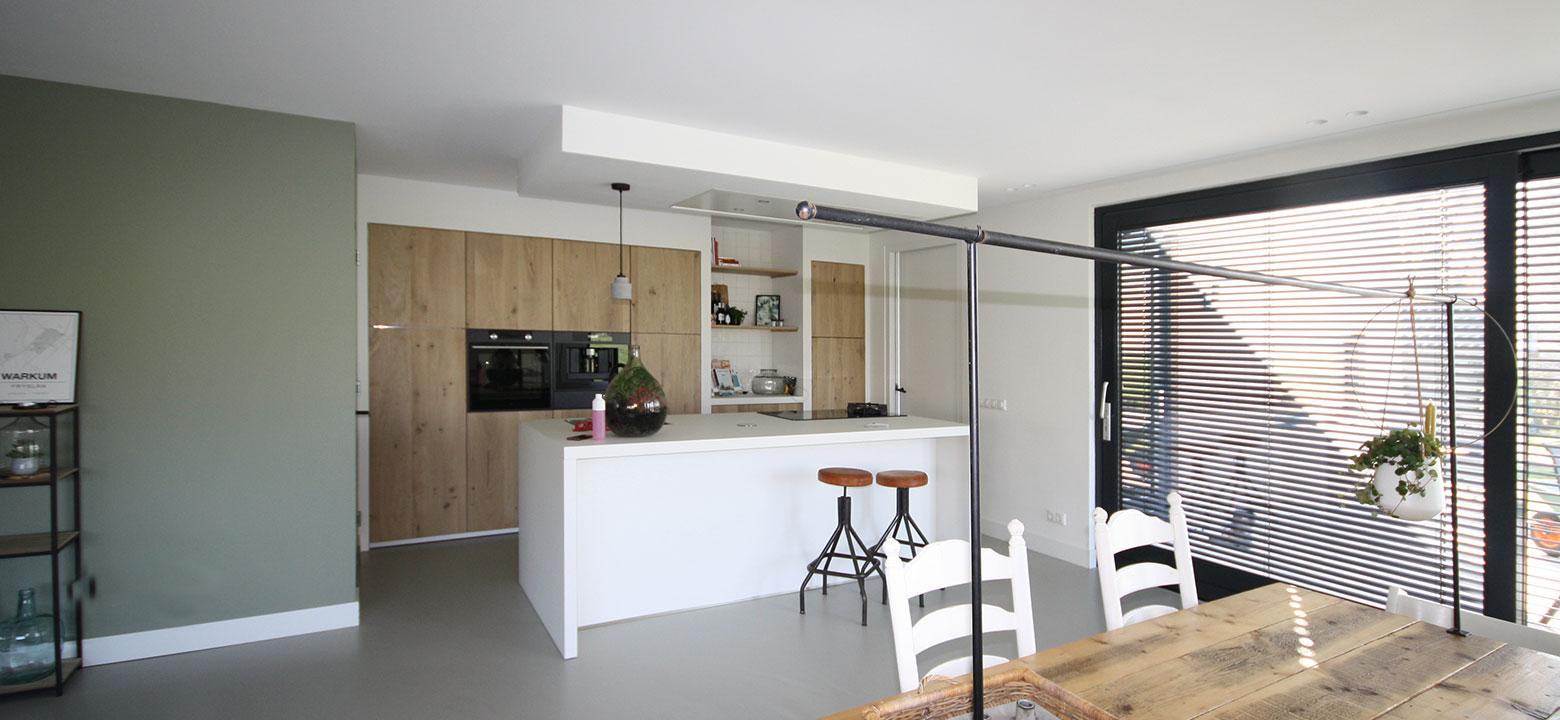 keuken eikenhout gietvloer