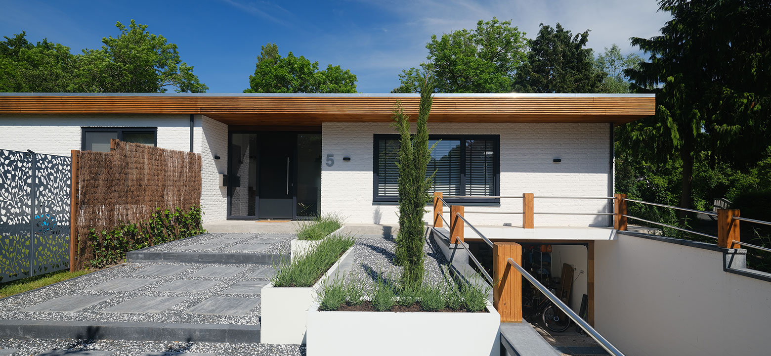 Witte bungalow